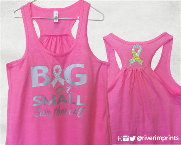 BIG OR SMALL, SAVE THEM ALL Glittery 2-sided Flowy Tank