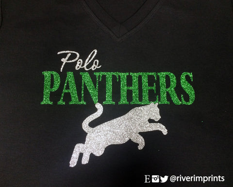 POLO PANTHERS Glittery Cotton Tee