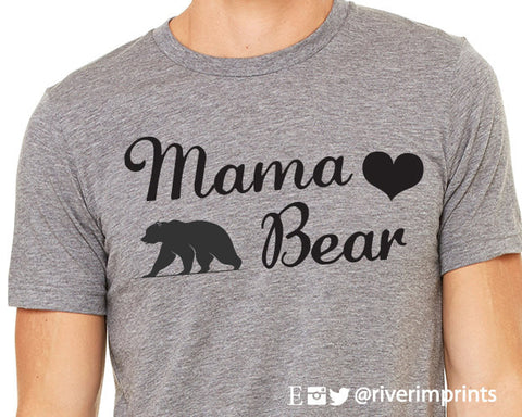 MAMA BEAR Graphic Triblend Tee by River Imprints