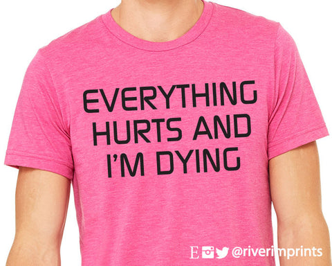 Everything Hurts and I'm Dying Graphic Triblend Tee River Imprints