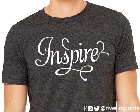 INSPIRE Graphic Triblend Tee by River Imprints