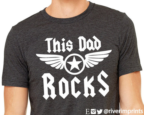 THIS DAD ROCKS Triblend Graphic Tee