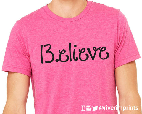 BELIEVE 13.1 Graphic Triblend Tee River Imprints
