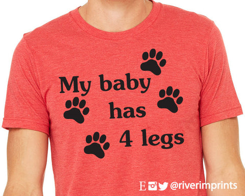 MY BABY HAS FOUR LEGS Graphic Triblend Tee by River Imprints