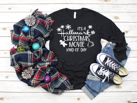 IT'S A HALLMARK CHRISTMAS MOVIE KIND OF DAY Long Sleeve Triblend Tee