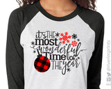 It's the most wonderful time of the year 3/4 sleeve raglan