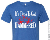 IT'S TIME TO GET STAR SPANGLED HAMMERED Graphic Triblend Tee