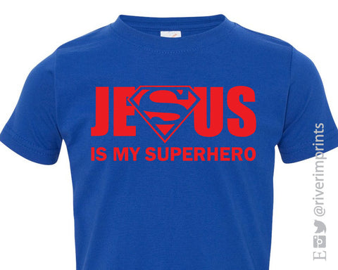 JESUS is my SUPERHERO, baby and toddler t-shirt