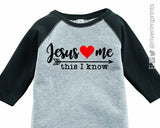 JESUS LOVES ME Toddler and Youth Easter Raglan
