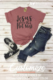 JESUS LOVES THIS HOT MESS Graphic Blend Tee Shirt
