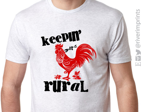KEEPIN' IT RURAL Triblend Sublimation Tee by River Imprints