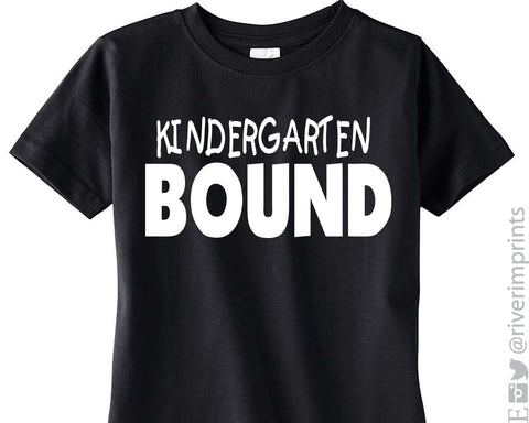 KINDERGARTEN BOUND Youth Cotton Tee River Imprints