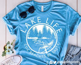 LAKE LIFE CUZ BEACHES BE SALTY Blend Tee Shirt