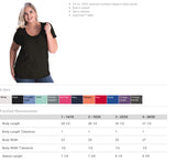 SHOW MOM Curvy Collection Glittery Scoopneck Cotton Tee