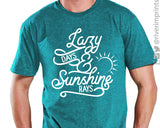 LAZY DAYS AND SUNSHINE RAYS Graphic Triblend Tee by River Imprints