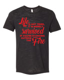STANDING OUTSIDE THE FIRE Graphic Slub Tee