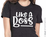 LIKE A BOSS Graphic Triblend Tee by River Imprints