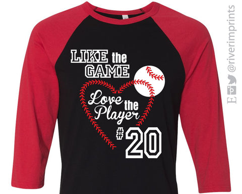 Like the Game Love the Player Triblend Baseball Raglan