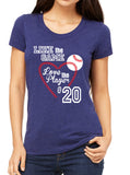 Like the Game Love the Player Baseball Triblend T-shirt by River Imprints