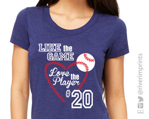 Like the Game Love the Player Baseball Triblend Tee by River Imprints