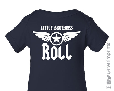 LITTLE BROTHERS ROLL Cotton Onesie or Tee