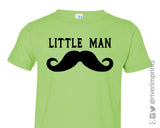 Toddler LITTLE MAN MUSTACHE, baby and toddler boys t-shirt