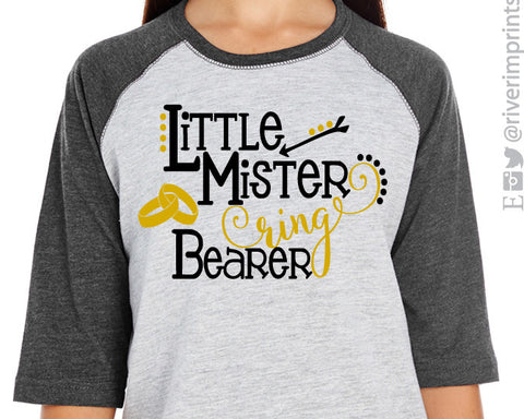 LITTLE MISTER RING BEARER toddler/youth wedding raglan