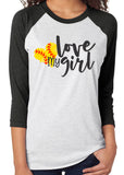 LOVE MY GIRL Triblend Raglan Tee by River Imprints