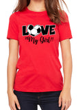 LOVE MY GIRL Soccer Triblend T-shirt by River Imprints