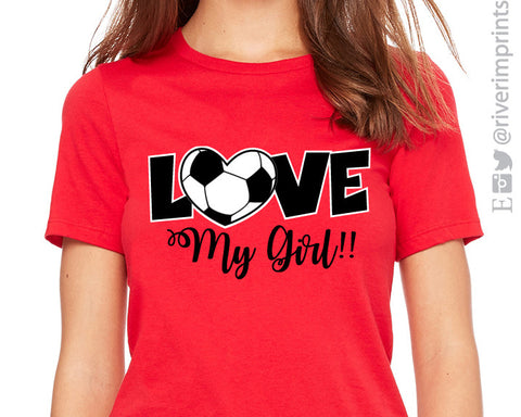 LOVE MY GIRL Triblend Soccer T-shirt