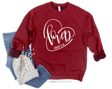LOVED John 3:16 Graphic Fleece Raglan Sweatshirt
