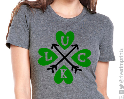LUCK Arrows St Patrick's Day Triblend Tee by River Imprints