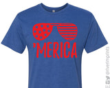 'MERICA FLAG SUNGLASSES Graphic Triblend Tee by River Imprints