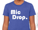 Mic Drop Graphic Youth Tee Shirt