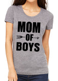 MOM OF BOYS Graphic Triblend T-shirt by River Imprints
