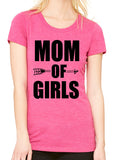 MOM OF GIRLS Graphic Triblend T-shirt by River Imprints