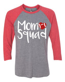 MOM SQUAD Football Glittery Raglan