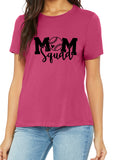 MOM SQUAD Softball Triblend T-shirt by River Imprints