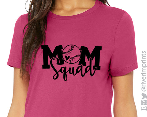 MOM SQUAD Softball Triblend Tee by River Imprints