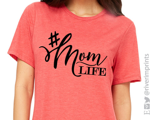 #momlife triblend tee River Imprints
