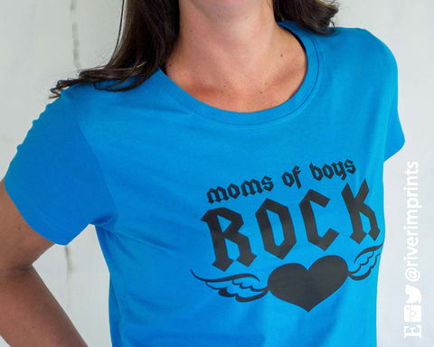 MOMS OF BOYS ROCK Graphic Cotton Tee