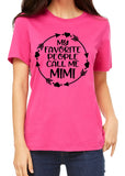 MY FAVORITE PEOPLE CALL ME MIMI Arrow Graphic Triblend T-shirt by River Imprints