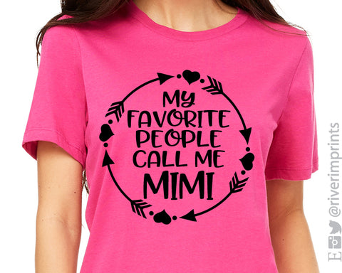 MY FAVORITE PEOPLE CALL ME MIMI Arrow Graphic Triblend Tee by River Imprints