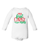 MY FIRST CHRISTMAS Long Sleeve Cotton Onesie