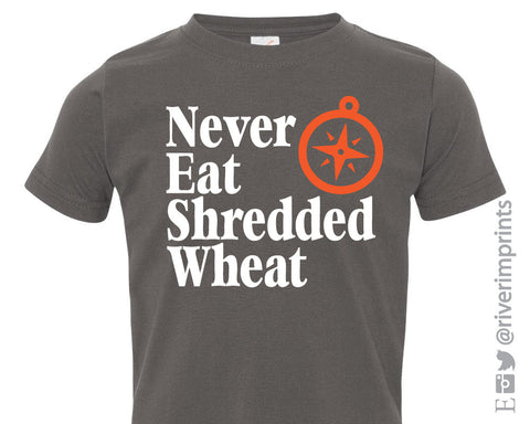 NEVER EAT SHREDDED WHEAT NESW Toddler Cotton Tee