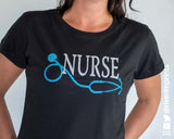 NURSE Glittery Cotton Tee