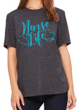 NURSE LIFE Glitter Triblend T-shirt by River Imprints