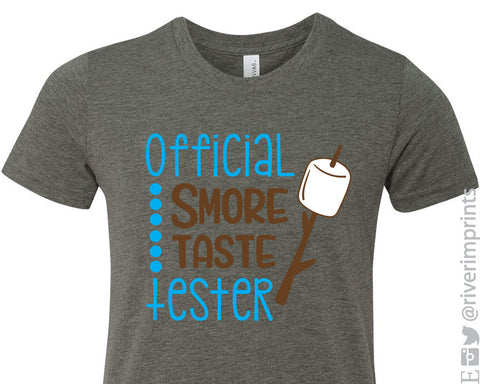 OFFICIAL SMORE TASTE TESTER graphic toddler/youth t-shirt