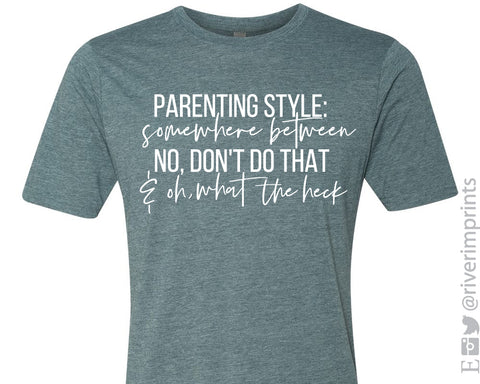 PARENTING STYLE Graphic Blend Tee Shirt - READY TO SHIP