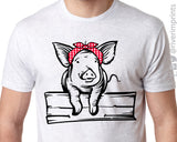PIG BANDANA Triblend Dye Sublimation Tee by River Imprints